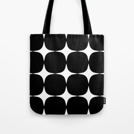 Retro '50s Shapes in Black and White Tote Bag