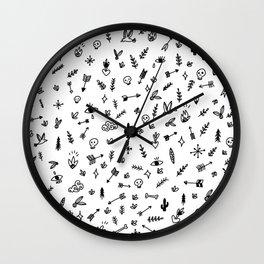 Mystic Forest - Illustration pattern Wall Clock