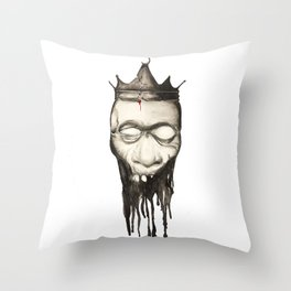 Rotten heads of kings with crowns. Throw Pillow