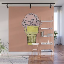 THERE'S ALWAYS TIME FOR ICE CREAM! - PEACH Wall Mural
