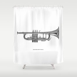 When words aren't enough Shower Curtain