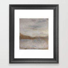 Golden landscape Framed Art Print