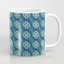 Moroccan Tiles in Blue Hues Coffee Mug