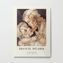Poster- Francis Picabia-Transparence. Metal Print