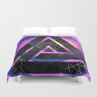 outer space Duvet Covers featuring fun in outer space by Healinglove art products