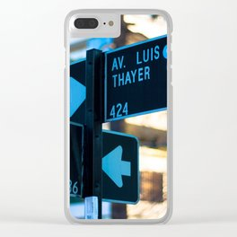 Traffic sign at Santiago, Chile Clear iPhone Case