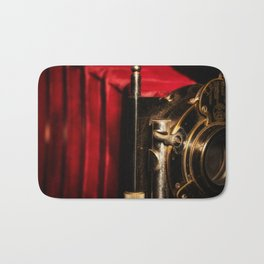 Scarlet a vintage Kodak folding camera retro art Bath Mat