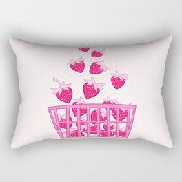 Strawberry Basket Rectangular Pillow