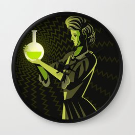 marie curie radioactive experiment Wall Clock