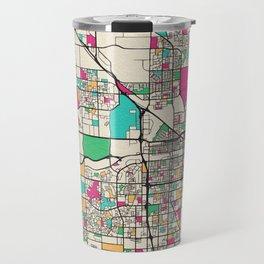 Colorful City Maps: Bakersfield, California Travel Mug