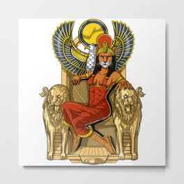 Egyptian Goddess Sekhmet Metal Print