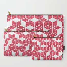Pink Glitter Cube Carry-All Pouch