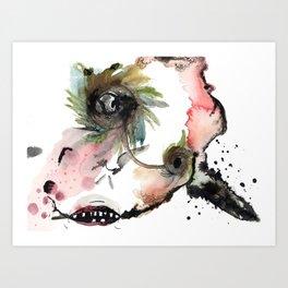 Cowman Art Print