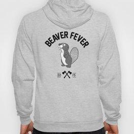Beaver Fever - Black and White Hoody