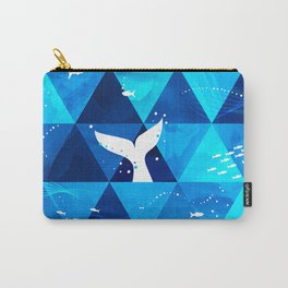 Blue Whale Singing Carry-All Pouch