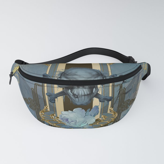 Awesome skull with crow Fanny Pack
