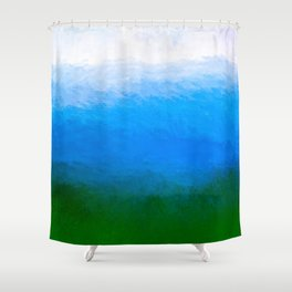 The Sea Is Deep - Abstract Waterscape Shower Curtain