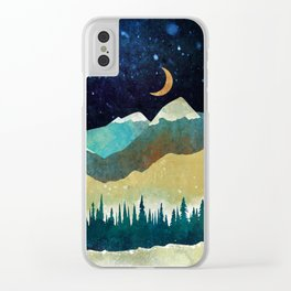 Snowy Night Clear iPhone Case