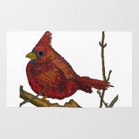 cardinal Area & Throw Rugs featuring Cardinal by Emilie Darlington