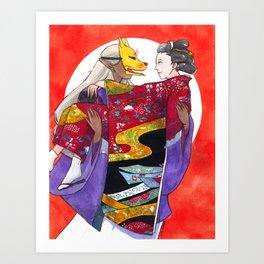 Mononoke - Wedding Day Art Print
