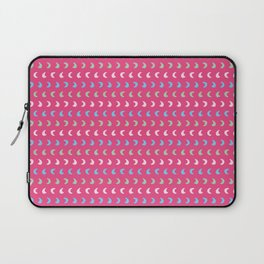 Bright fun doodle half moon shapes seamless pattern. Laptop Sleeve