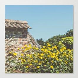 English Walled Garden High Summer Canvas Print