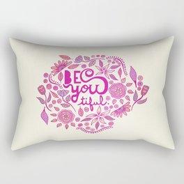 Be You-Tiful (pink edition) Rectangular Pillow