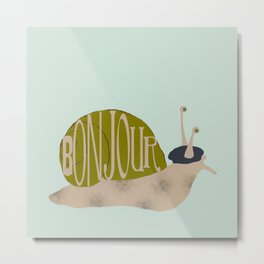 French Snail Metal Print