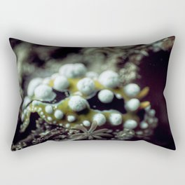 Bokeh yellow nudibranch Rectangular Pillow