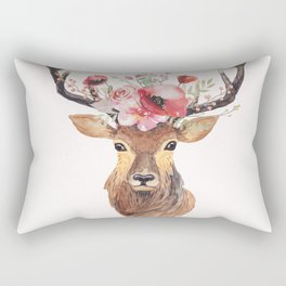 Bohemian Deer Rectangular Pillow