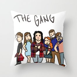 My Mad Fat Diary: The gang Throw Pillow