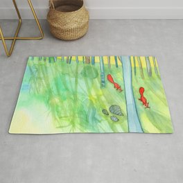 Summer Woods and Critters Rug