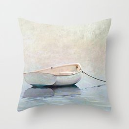 Silent Morning by the Shore Throw Pillow