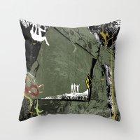 climbing Throw Pillows featuring Rock Climbing by Robin Curtiss