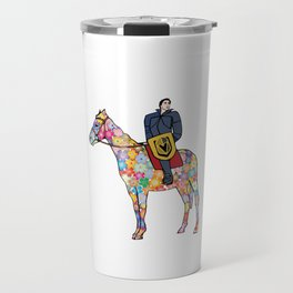 Sir Flower the Golden Knight Travel Mug