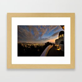Griffith Observatory & Century City Framed Art Print