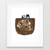 pocket fuel Framed Art Prints featuring Fossil Fuel by Supuru