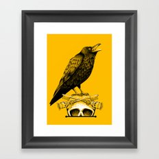 Black Crow, Skull and Cross Keys Framed Art Print