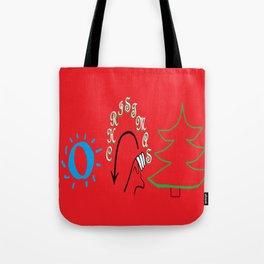 American Sign Language O Christmas Tree Tote Bag