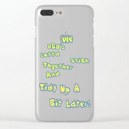 OCD's unite! Clear iPhone Case