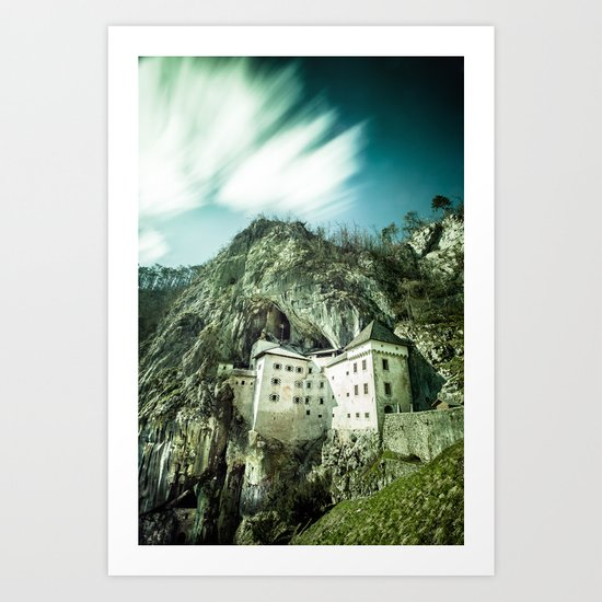 Majestic Predjama Castle Art Print