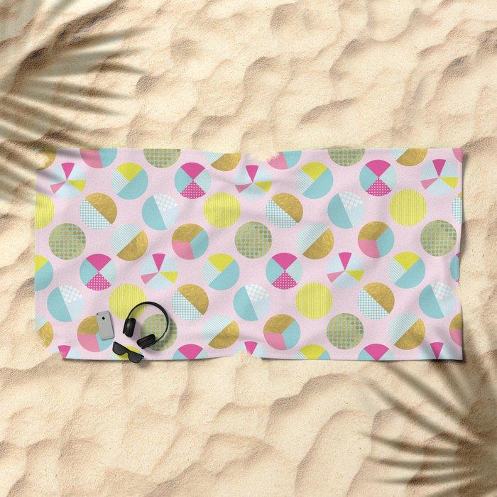Goldielocks Gold Spots  Beach Towel
