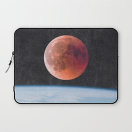 Blood Moon Over Earth Laptop Sleeve