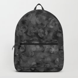 Dark Charcoal Gray and Light Grey Abstract Backpack