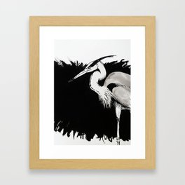 Inksplash Heron Framed Art Print