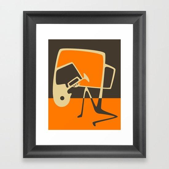Blues Horn Framed Art Print