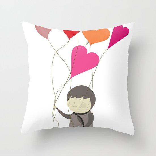 The Love Balloons Throw Pillow