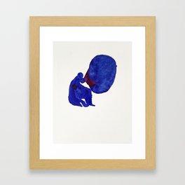 I mitt huvud är allting vårt. Framed Art Print