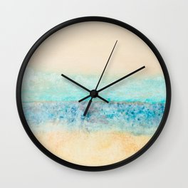 Sea (White/Blue Abstract) Wall Clock
