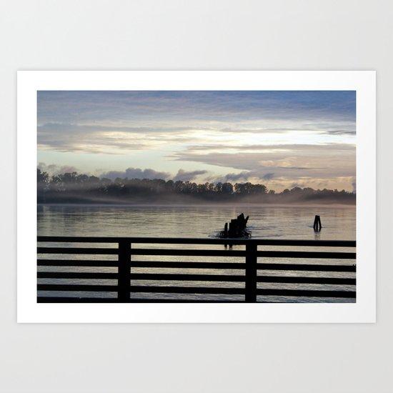 Dock on the Pitt River Art Print